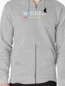 PinkGoes Good With Green Zipped Hoodie