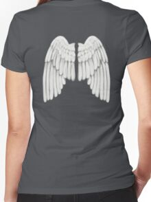 Folded Wings Women's Fitted V-Neck T-Shirt