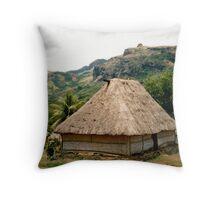 Fiji:Native Bure Throw Pillow