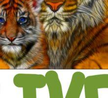 Live Simply Tiger Sticker