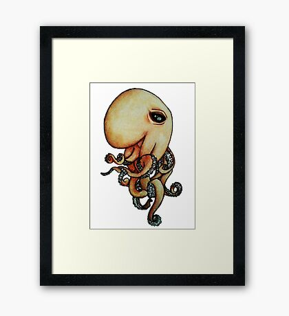 Sly Octopus Framed Print