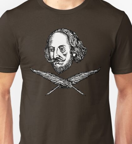 Shakespeare with Crossed Quilla Unisex T-Shirt