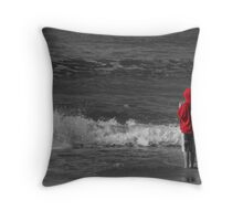 The Red Hoodie SC Throw Pillow