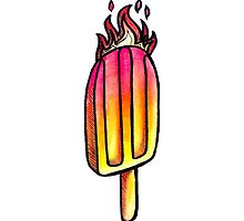 Fire'n Ice - Tequila Sunrise Ice Lolly by denidoodles