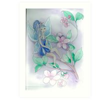 The Blue Fairy in Apple Blossom Art Print