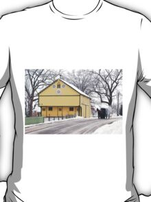 Yellow Barn with Horse and Buggy T-Shirt