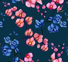 Orchids. Watercolor by JuliaBadeeva