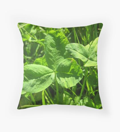 Edible Clover Throw Pillow