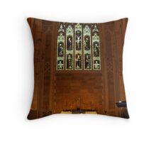 Altar at St David's Anglican Cathedral, Hobart Throw Pillow