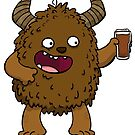 Brown Ale Beer Monster by striffle