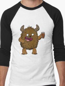 Brown Ale Beer Monster Men's Baseball ¾ T-Shirt