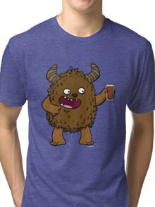 Brown Ale Beer Monster Tri-blend T-Shirt
