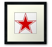 Roundel of the Soviet Air Forces, 1945-1991 Framed Print
