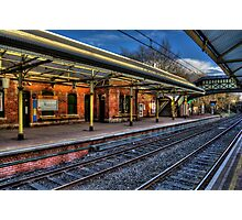 Cullercoats Metro Station Photographic Print