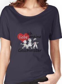 Ich liebe meine Geschwiste - I love my Siblings in German Women's Relaxed Fit T-Shirt