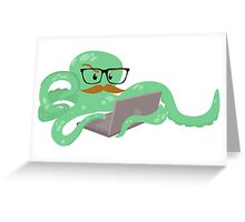 The Mustachioed Internet Octopus Greeting Card
