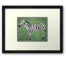 Sleepy Zzzebra Framed Print