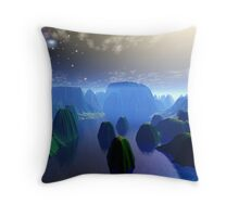 dreaming of far places Throw Pillow