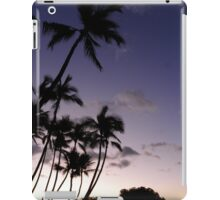 Portfolio: Palms at sunset, Mahaiula Bay, Big Island iPad Case/Skin