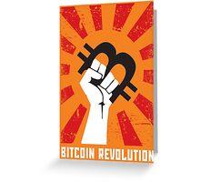Bitcoin revolution Greeting Card
