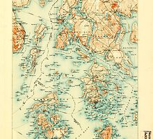 Maine USGS Historical Map Penobscot Bay 807614 1905 125000 by wetdryvac