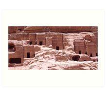 Petra Caves Art Print