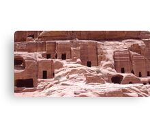 Petra Caves Canvas Print