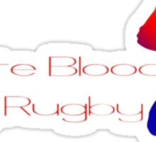 Donate blood - play rugby Sticker