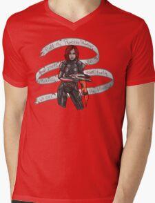 Commander Shepard Mens V-Neck T-Shirt