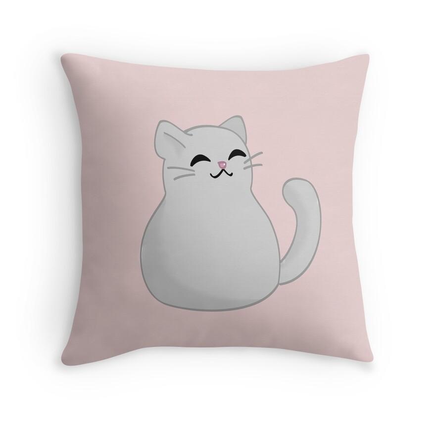 Kitty Throw Pillow :