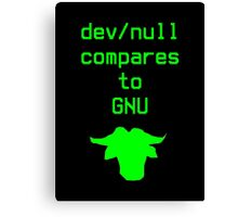 dev/null compares to GNU Canvas Print