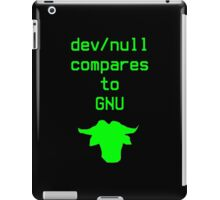 dev/null compares to GNU iPad Case/Skin