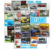 80 years of Reliant 3-wheelers Poster