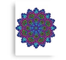 Bluemungus mandala Canvas Print
