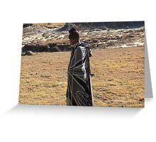 Lesotho dress code Greeting Card
