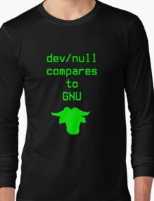 dev/null compares to GNU Long Sleeve T-Shirt