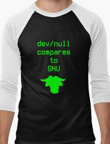 dev/null compares to GNU Men's Baseball ¾ T-Shirt