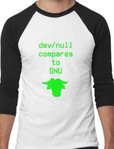 dev/null compares to GNU Men's Baseball ¾ T-Shirt