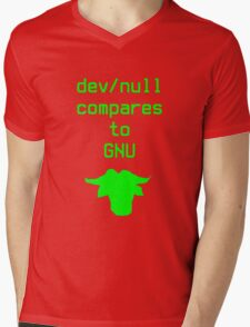dev/null compares to GNU Mens V-Neck T-Shirt