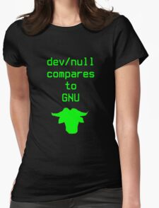 dev/null compares to GNU Womens Fitted T-Shirt