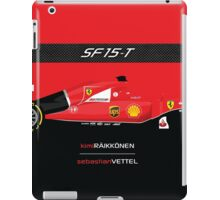 2015 Formula 1 Scuderia Ferrari SF15-T with carbon fiber bar iPad Case/Skin
