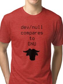 dev/null compares to GNU Tri-blend T-Shirt