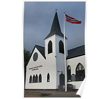 Norwegian Church, Cardiff Bay Poster