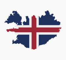 Iceland map flag by Designzz