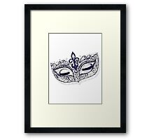 Masquerade Ball Mask Framed Print