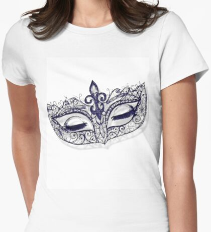 Masquerade Ball Mask Womens Fitted T-Shirt