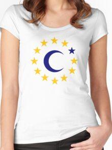 Islam Europe Stars Women's Fitted Scoop T-Shirt
