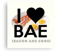 BAE (Bacon & Eggs) Canvas Print