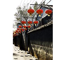 Lampion on a mornin Photographic Print