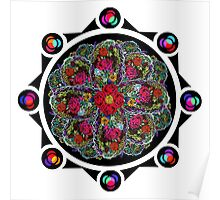 8 Rose Window Poster